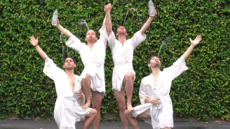 Four Dudes Turning Themselves Into Synchronized Human Fountains Is The Most Ridiculous Video Of 2018