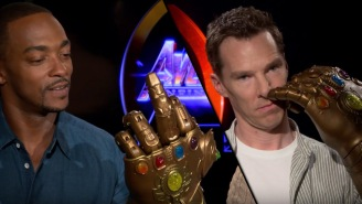 'Avengers: Infinity War' Stars Turn Into Complete Children When Given Thanos' Infinity Gauntlet