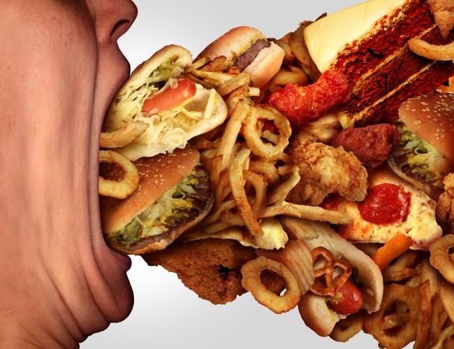 binge eating junk food