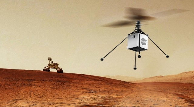 MARS Rover helicopter