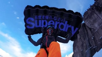 This Dude Travels The Globe And Jumps Off The World's Tallest Mountains While Extreme Ski-BASE Jumping