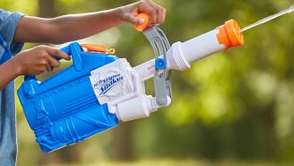 NERF Now Makes Water Guns And This 'Soakzooka' Might Blast A Person's Face Off