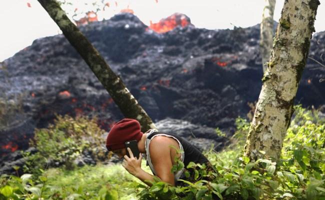Photos Golfing Hawaii Kilauea Volcano Erupts