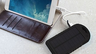 Say Bye To Wall Sockets With This Solar Charger—72% Off
