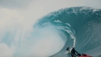 This Unbelievably MASSIVE Wave At Cloudbreak In Fiji Is Proof That Big Wave Surfers Are Truly Insane