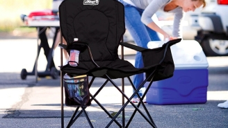 These Coleman Camping Chairs With A Built-In Cooler