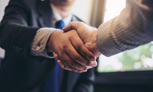 shaking hands job interview