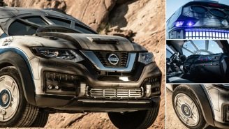 Nissan Just Unveiled A Millennium Falcon-Themed 2018 Nissan Rogue For 'Solo: A Star Wars Story'