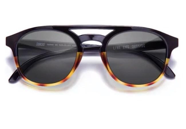 Sunski Olemas Black Tortoise Slate Sunglasses