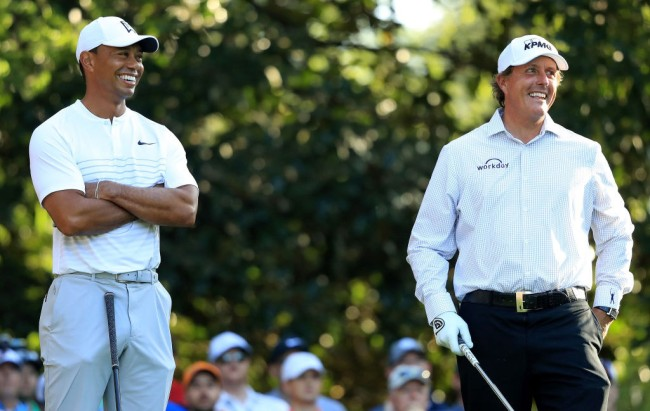 tiger woods phil mickelson smack talk charity match