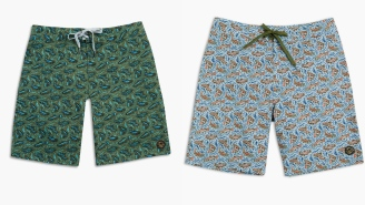 The Upstream Boardshort Leaping Fish Pattern From United By Blue Is Schweeeeet (And On Sale)