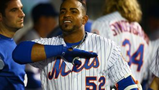 Yoenis Cespedes Broke His Giant Chain And All The Diamonds Scattered On The Field