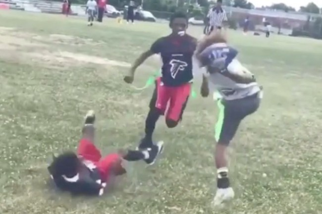 9-year-old one-handed catch