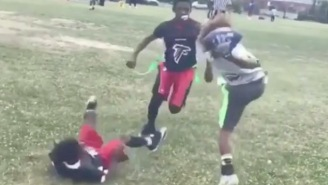 9-Year-Old Football Player Makes A One-Handed Catch That'd Make Odell Beckham Jr. Jealous