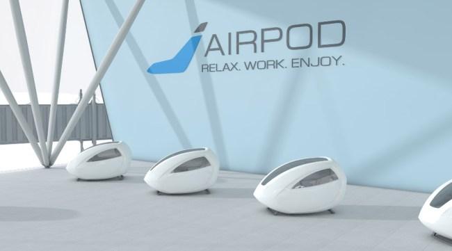 airpod sleeping pods Netflix nap Airports
