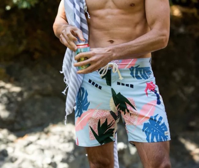 bather trunk co abstract palms trunks