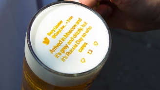 Brewer Prints World Cup Tweets Onto Beer Foam So Fans Will Stay Off Their Phones