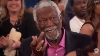 Bill Russell Hilariously Gives Charles Barkley The Middle Finger On Live TV During The NBA Awards