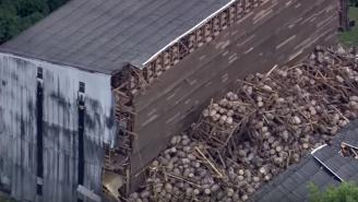 OH THE HUMANITY!!! Thousands Of Bourbon Barrels Smashed After Warehouse Collapses