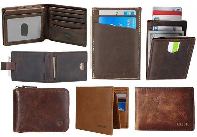 Brown Leather Wallets Under 45