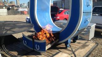 This Custom Indianapolis Colts Smoker Can Cook 400-Pounds Of Meat At Once
