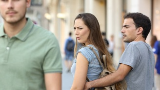 The Distracted Boyfriend Meme Girl Is SHOCKED By Computer Screens, Is Also Easily Distracted