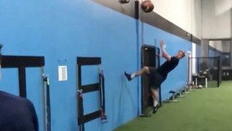 This Insane Backflip Catch Has Me Convinced Trick Shots Should Come To The NFL