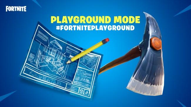 fortnite playground practice mode