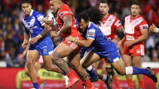 Tonga And Samoa Go Head-To-Head In Pre-Game War Dances In One Of Rugby's Coolest Traditions