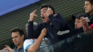 Diego Maradona Went Through Every Emotion During The Argentina-Nigeria Game