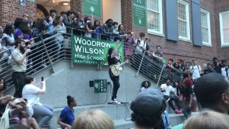 Jack White Surprises D.C. High School With A Concert On Campus During Lunch Break