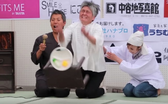 japan angry table flipping contest