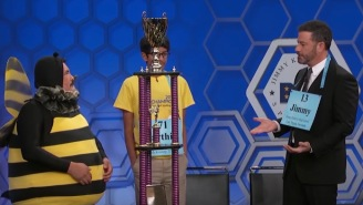 Jimmy Kimmel Squares Off Against The Scripps Spelling Bee Winner And They Both Get Rocked