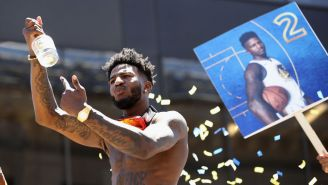 Hennessy Sent Jordan Bell A Very Special Gift After He Ran Out Of Cognac During The Warriors' Parade