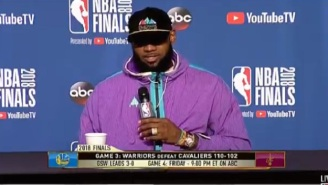 LeBron James Was Once Again Fed Up With ESPN Reporter Mark Schwarz After Game 3 Of The NBA Finals