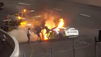A Race Car Driver's Dad Pulled Him Out Of A Flaming Wreck At The Last Second In A Harrowing Video