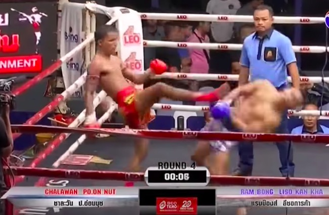 muay thai face kick knockout