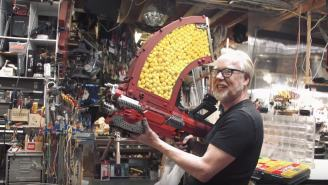 Adam Savage Modifies Nerf Gun Into 1,000-Round Monster Blaster That Shoots For 2 Minutes Straight