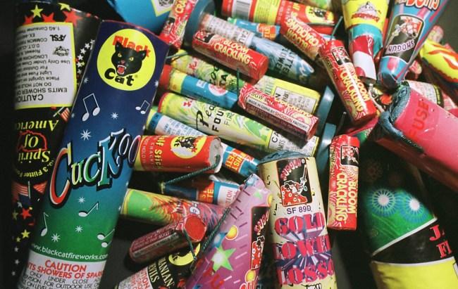 pile of fireworks
