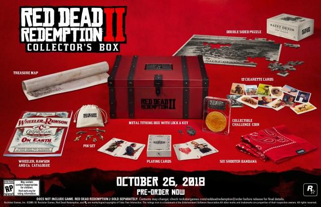 Red Dead Redemption 2 Pre-Order Collectors Box