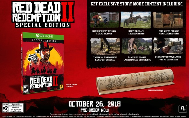 Red Dead Redemption 2 Pre-Order Special Edition