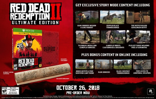 Red Dead Redemption 2 Pre-Order Ultimate Edition