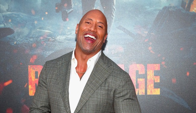 The Rock Throwback Photo Mustache