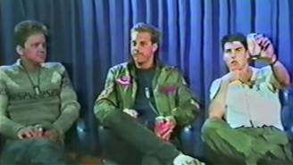 Long-Lost Footage Of 'Top Gun' Cast Interviews From USS Enterprise Unearthed