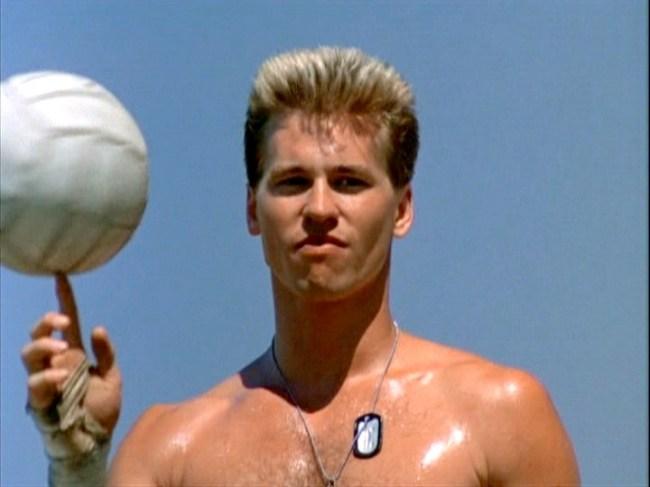 Top Gun Val Kilmer Volleyball