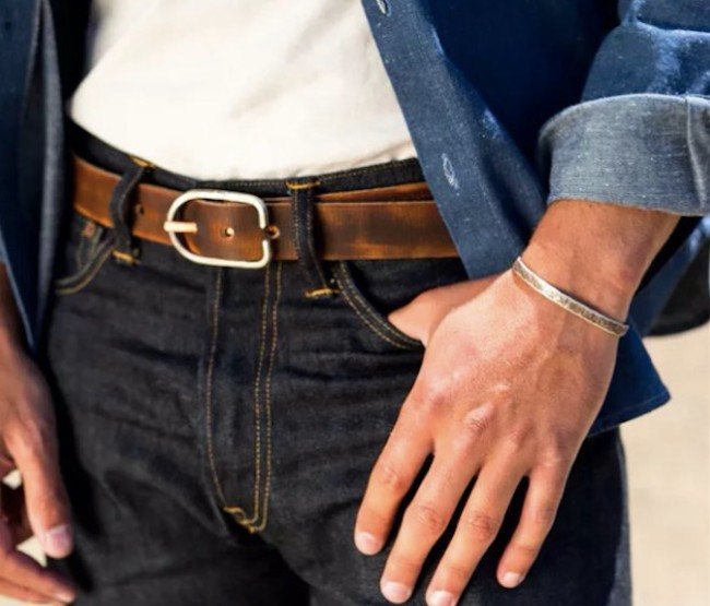Vintage Leather Brindle Belts by Cause and Effect