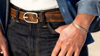 These Gorgeous Leather Vintage Brindle Belts Are Handmade In Asheville