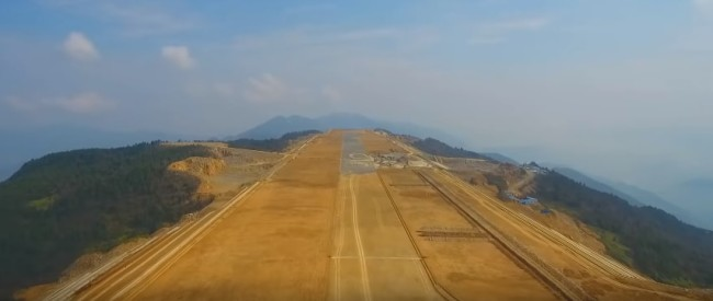 wushan airport on a mountain