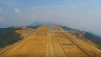 Workers Blow Up Mountaintop To Build Airport 5,900-Feet Above Sea Level