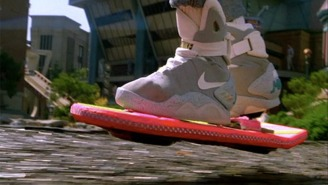 One Of The Original Self-Tying Shoes From 'Back To The Future II' Sold For A Ridiculous Amount Of Money